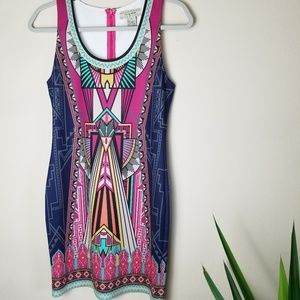 Flying Tomato Aztec Body Con Dress Size M
